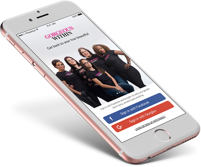 Gorgeous Within's mobile app for female empowerment and self development